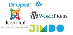 Verschiedene Content Management Systeme