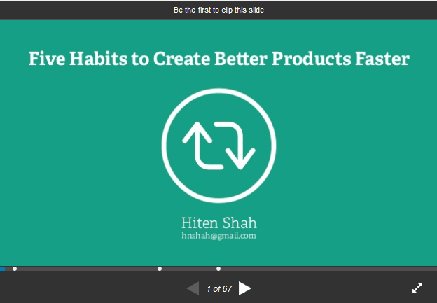Five Habits to Create Better Products Faster