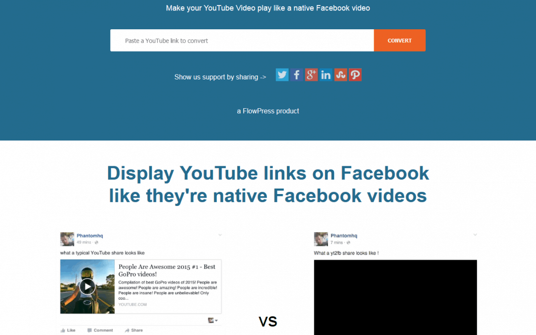 YouTube-Videos wie originale Facebook-Videos posten