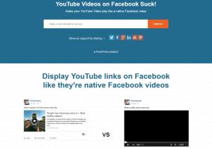 YT2FB - YouTube Videos umwandel auf Facebook