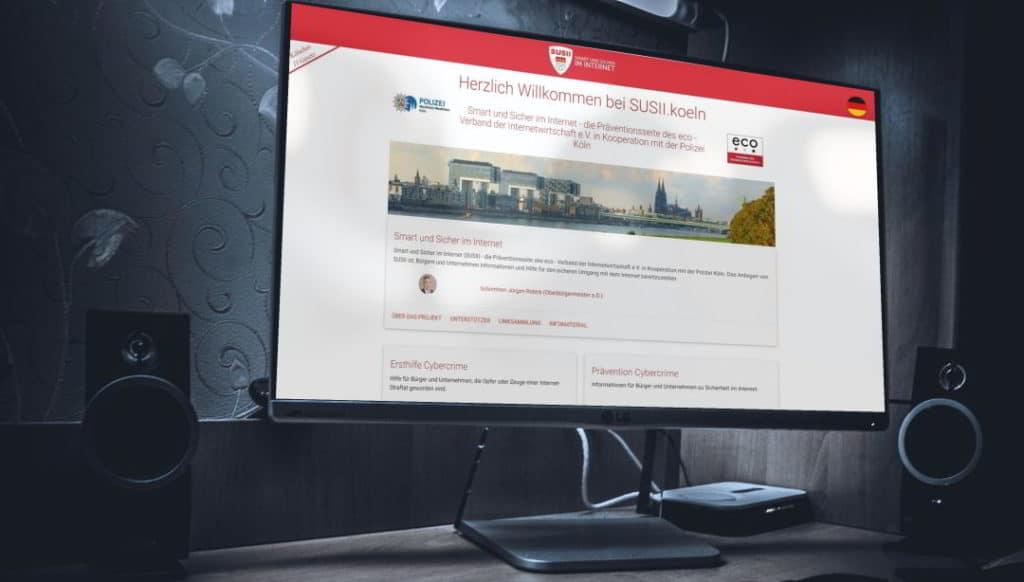 Susii kostenloses Internet Sicherheitsportal Bbild