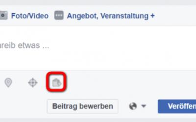 Facebook Produkte markieren