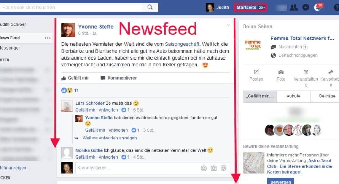 Wie kann ich meine Facebook Startseite einstellen?