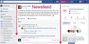 Facebook Startseite einstellen Newsfeed Beitragsbild