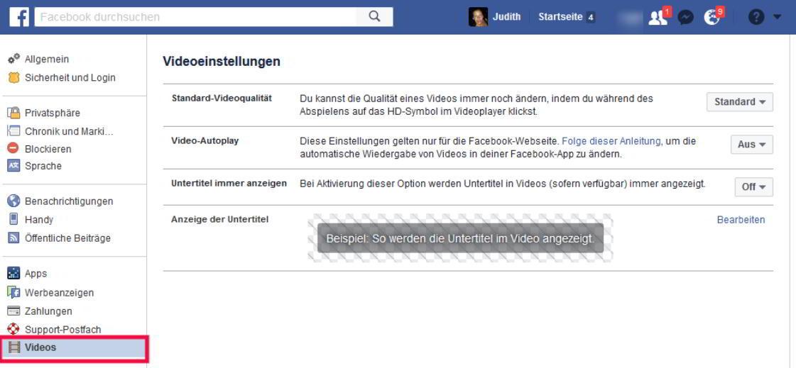 facebook link ändern