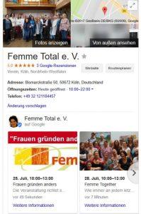 Google My Business Beitrag Darstellung
