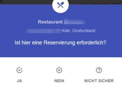 Google My Business Fragen Reservierung