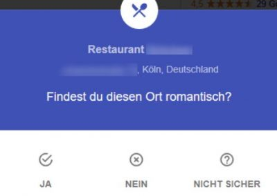 Google My Business Fragen Romantisch