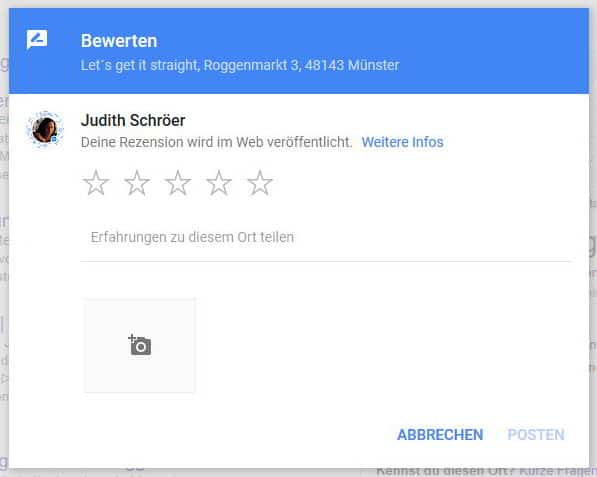 local SEO Google Rezensionen eingeben