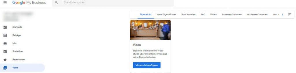 Video zum Google My Business Eintrag hinzufügen