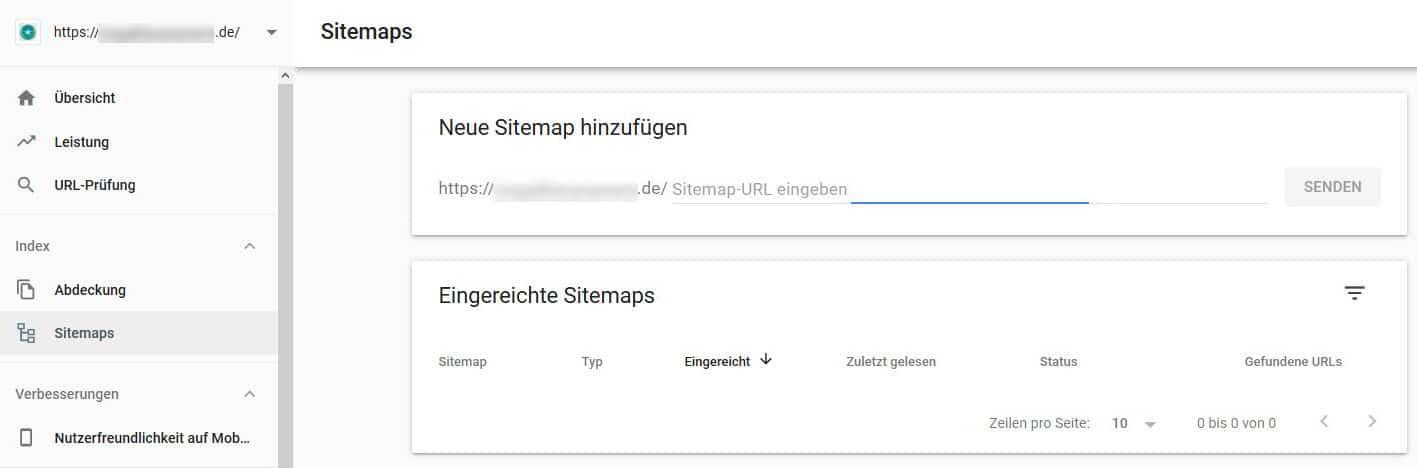 Google Search Console Sitemap einreichen