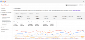 Google Search Console Suchanalyse