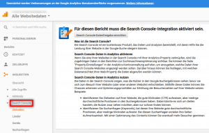 Google Search Console in Google Analytics