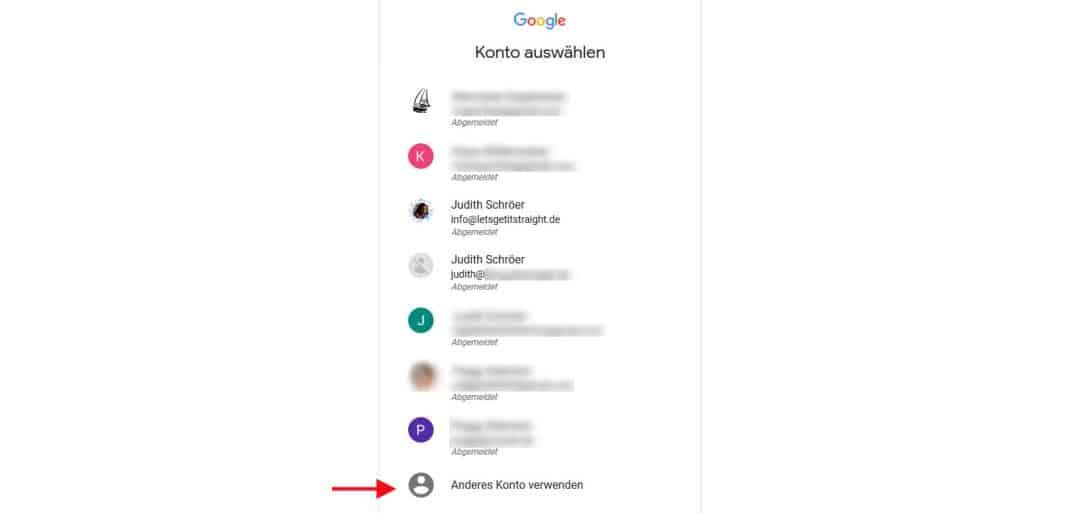Google Konto erstellen Anderes Konto verwenden