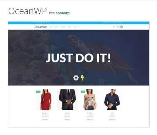 Kostenlose WordPress Theme Ocean WP