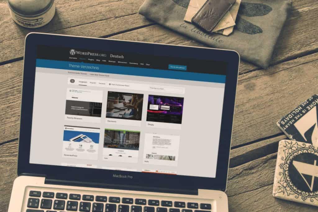 Kostenlose WordPress Themes finden Bbild