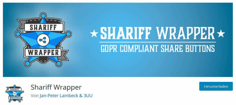 WordPress Plugins Shariff Wrapper