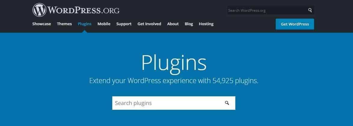 WordPress Webseite erstellen Plugin Verzeichnis