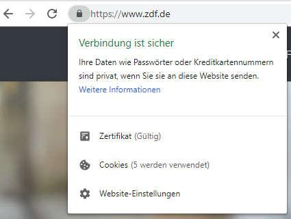 Anonym surfen Chrome Webseiten Berechtigungen