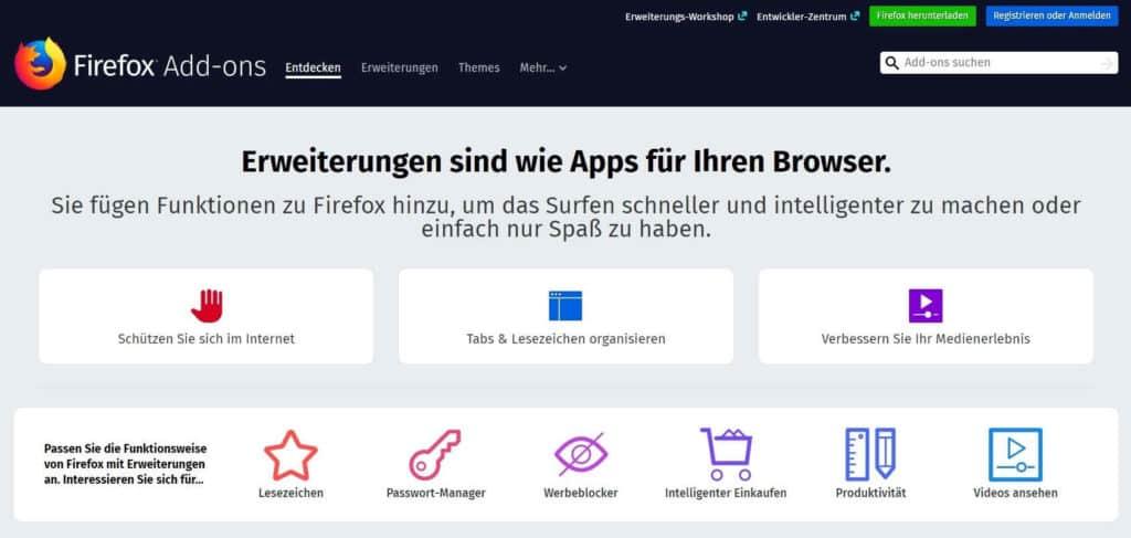 Anonym surfen Third Party Cookies blockieren Firefox