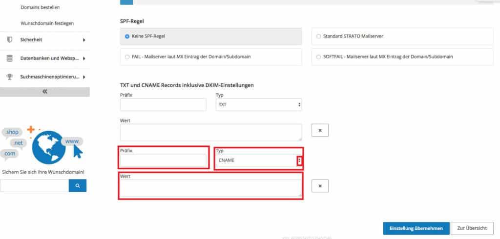 Google Search Console Google Search Console Verifizierung mit Domain Namen Anbieter DNS Eintrag beim Hoster