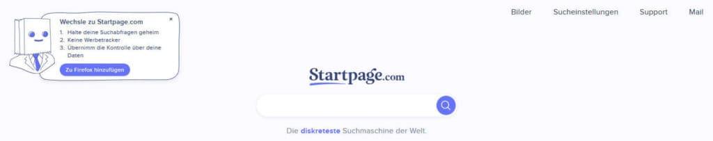 Startpage anonym surfen
