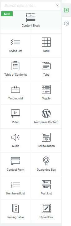 Blog schreiben Pagebuilder Elemente