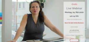 Anmeldung WordPress Webinar web