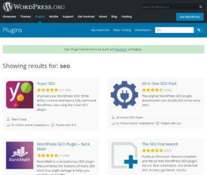 Google Index WordPress SEO Plugins