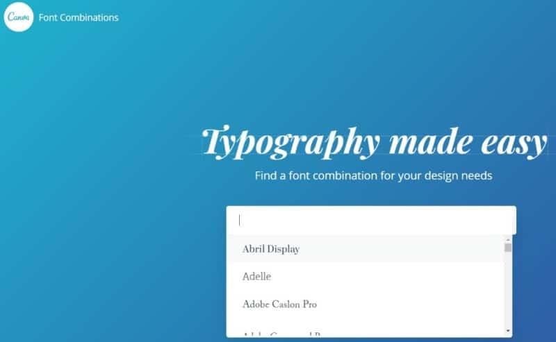 Schriftarten Tool Canva